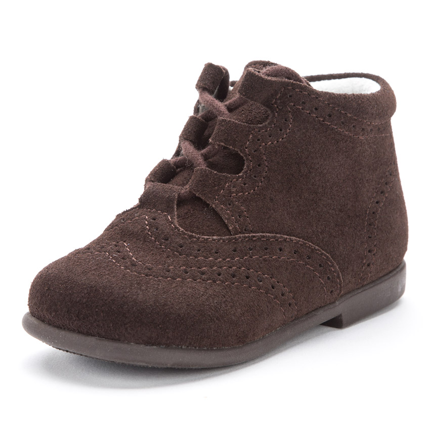 Suede Lace-Up Oxford Booties