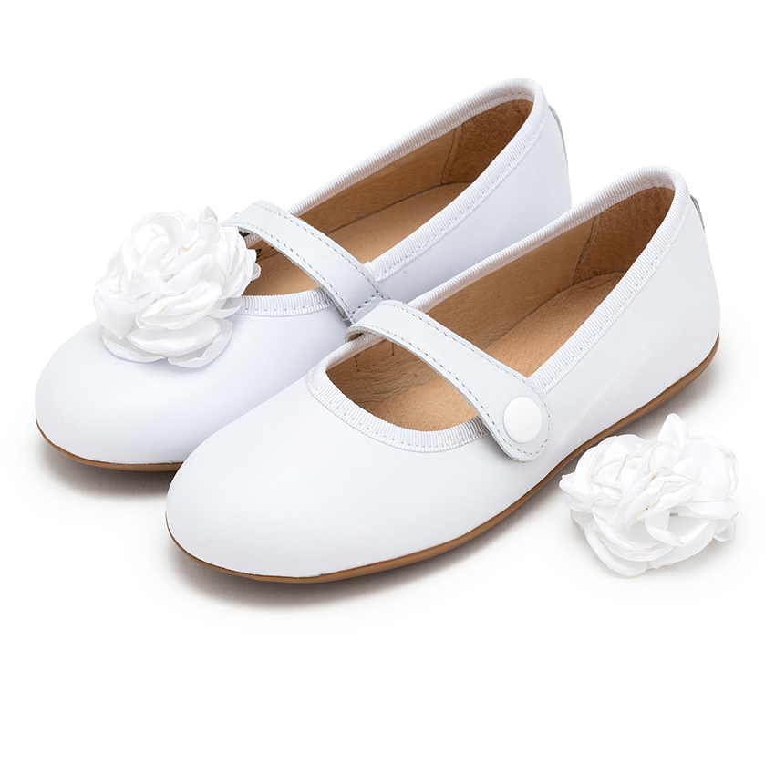 75e0b44c8 Girls communion Leather Mary Jane Shoes made in Spain