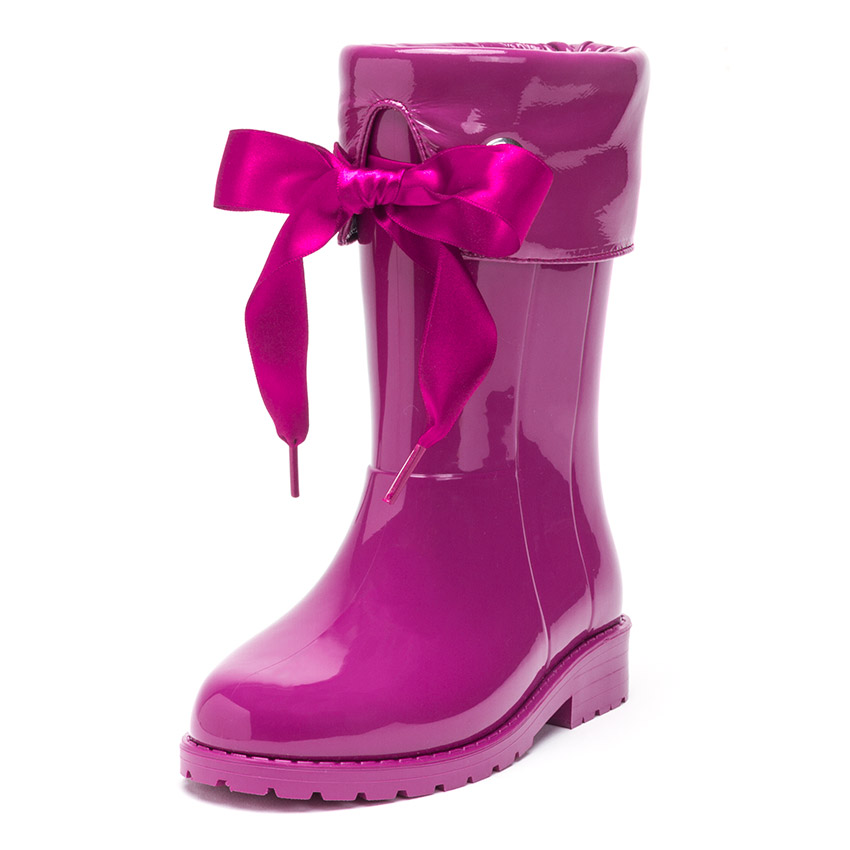 Patent style Wellies for girls by Igor