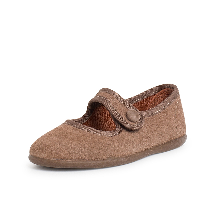 Girls Suede Velcro Mary Jane Shoes