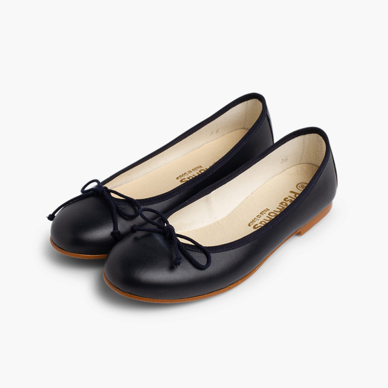 Leather Ballerina Shoes for Women and Girls