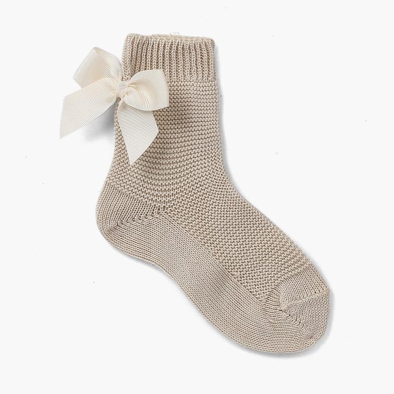Condor plain short socks with bows