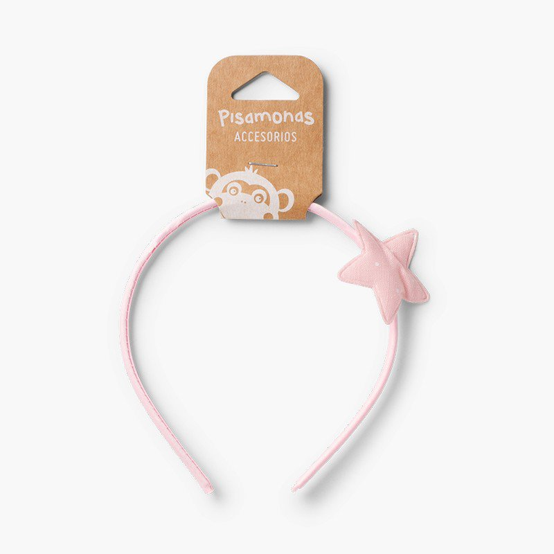 Thin headband with dotted star