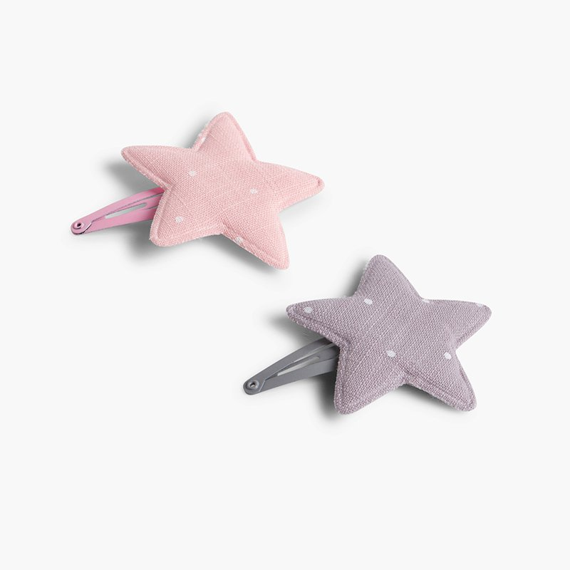 Dotted star hair clip