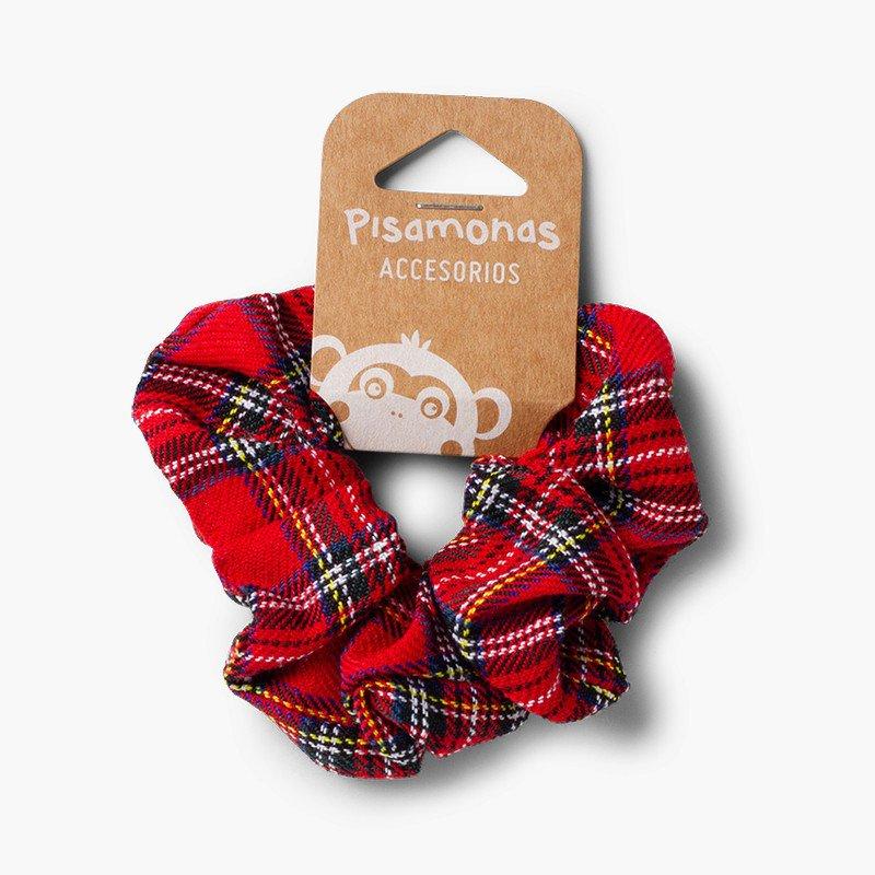 Girls' Scottish-patterned hair tie