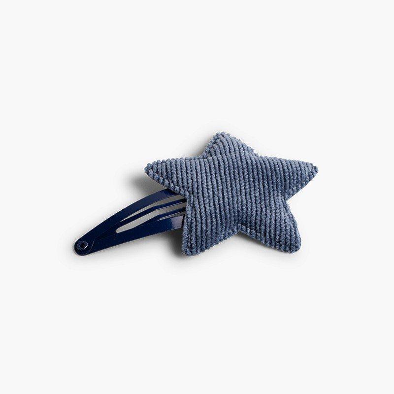 Corduroy Star Hair Clip