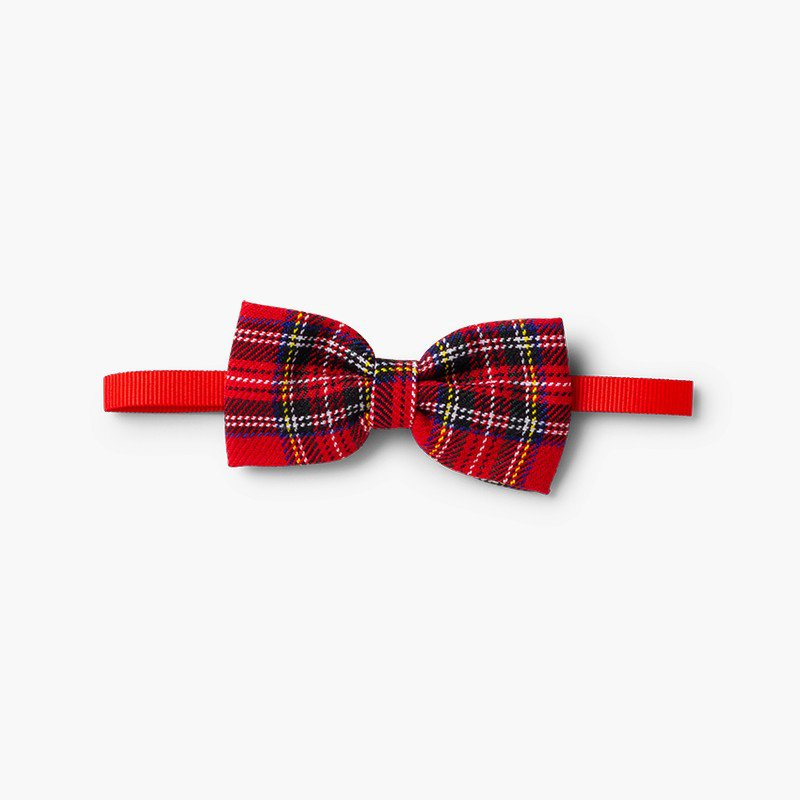 Boys' Scottish-patterned bow tie