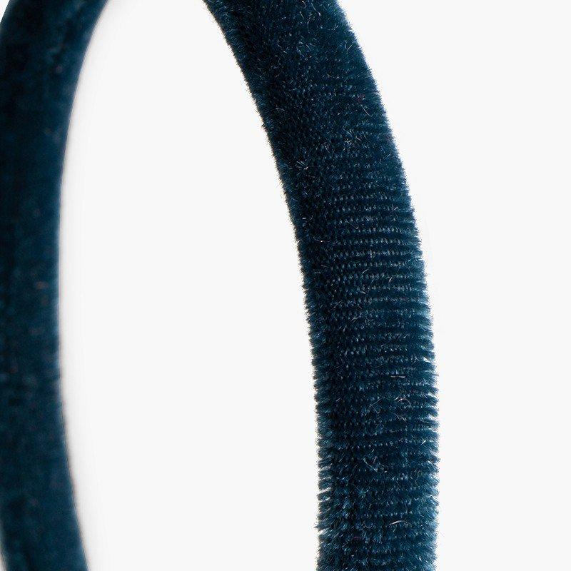 Rigid velvet headband
