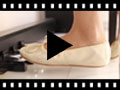 Video from Girls and Womens Metallic Leather Ballerinas