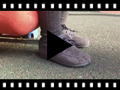 Video from Lace-up faux suede boat shoes