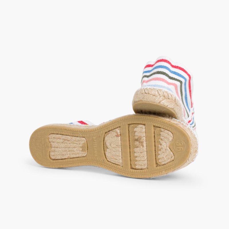 Striped Espadrilles for Kids and Adults