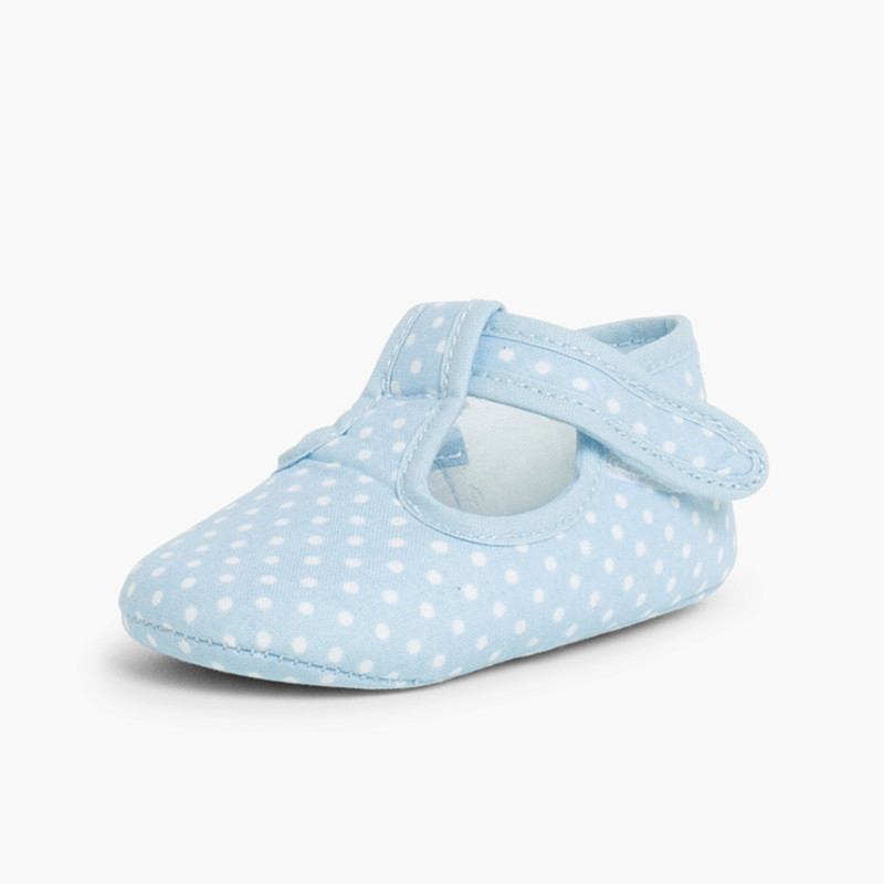 Baby Boys Polka Dot T-bar Shoes