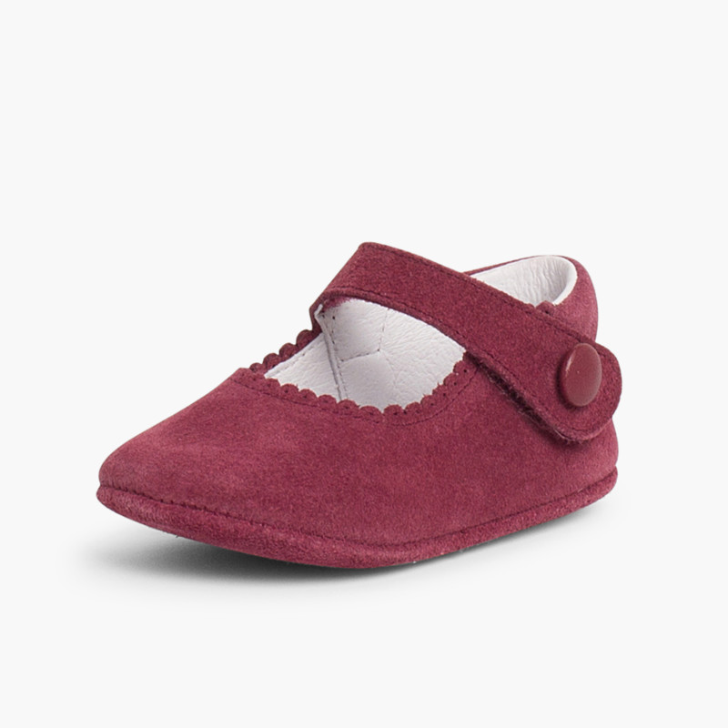 Baby Suede Velcro Mary Janes