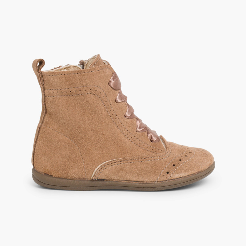 Suede zip-up Pascuala Boots