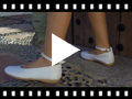 Video from Ballet Pumps for Girls with Sparkling Ankle Strap