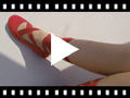 Video from Girls' and Women' Ballerina Shoes with Ribbons
