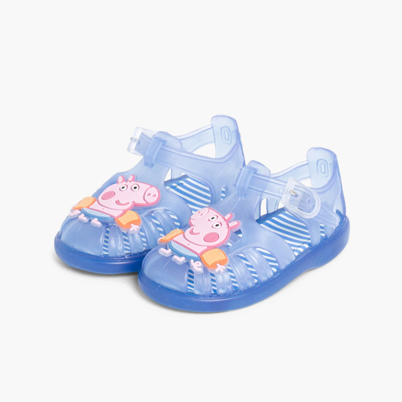 Boys George Pig Jelly Shoes