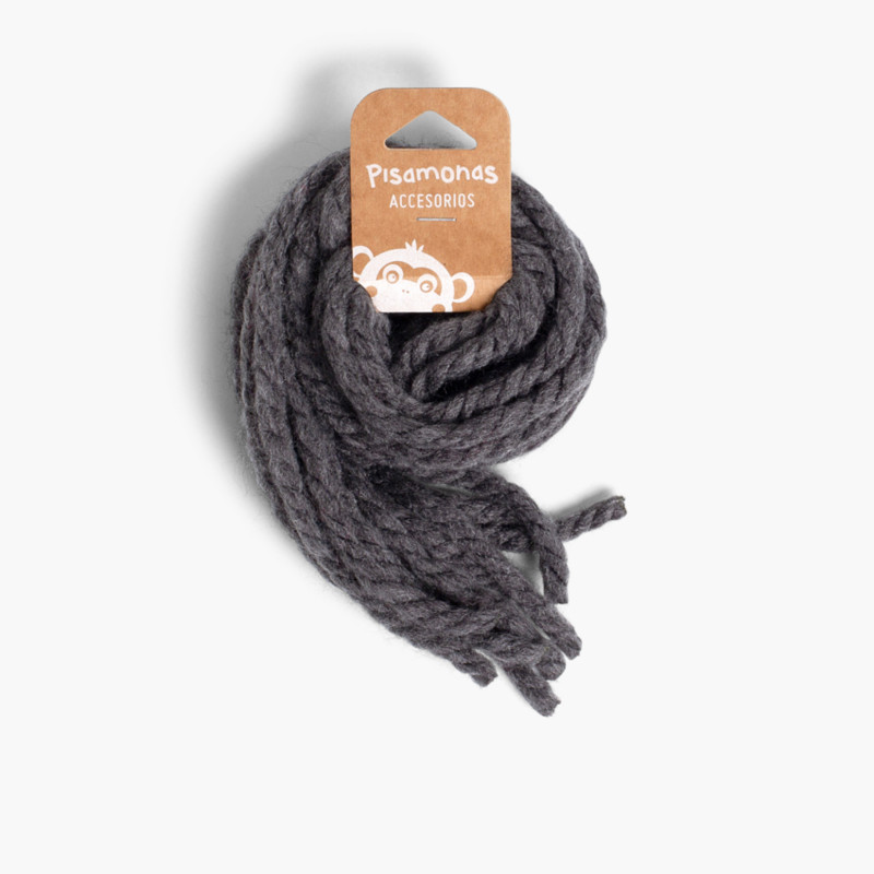 Hair strands for girls in monochrome wool