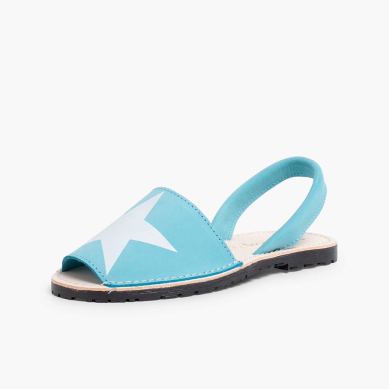 Nubuck Menorcan Sandals with Stars