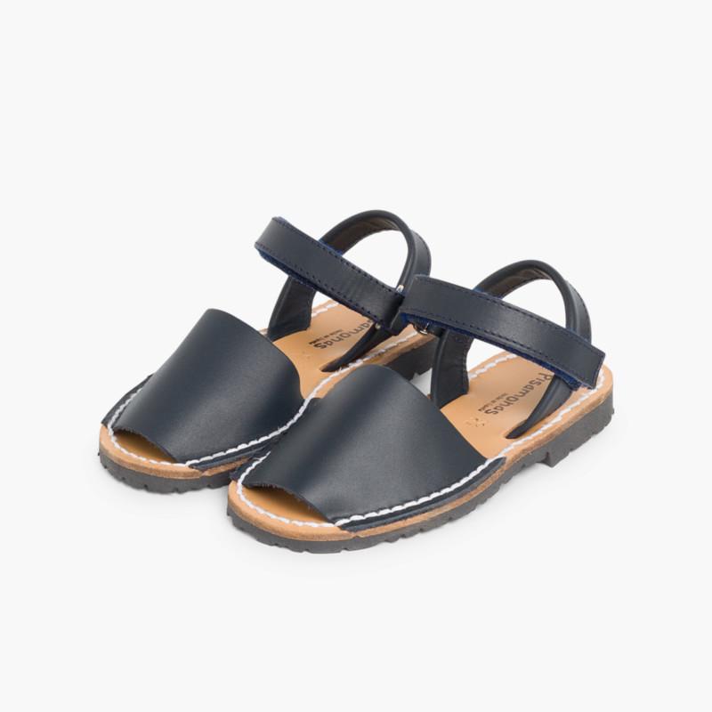 Kids Nappa Avarcas Menorcan Riptape Sandals