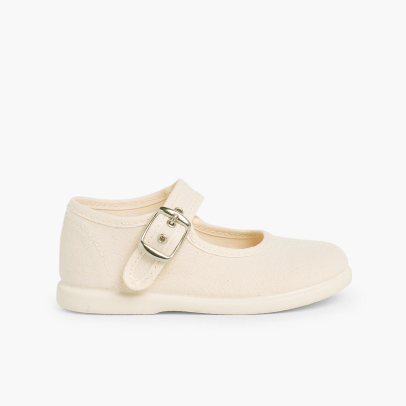 Girls Buckle Up Canvas Mary Janes