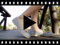 Video from Linen Ballerina Pumps with Bow for Girls and Women