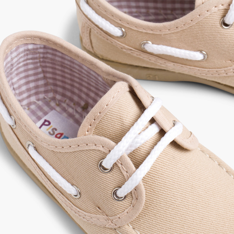 Boys Lace-Up Canvas Boat Shoes