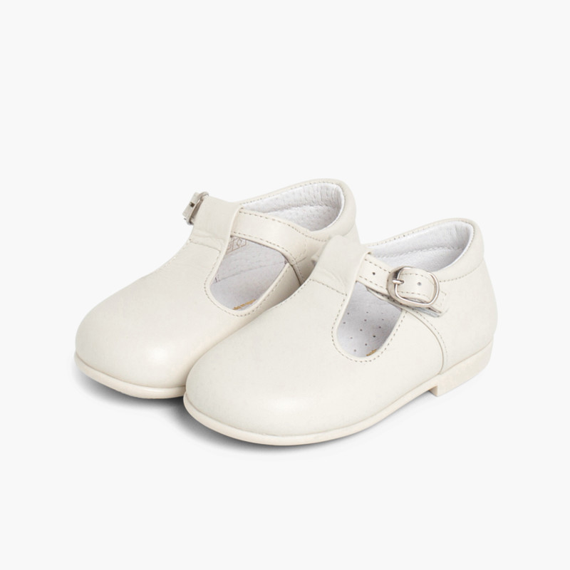 bfbfa1c0a Leather Buckle Up T-Bar Shoes. Quality boys shoes