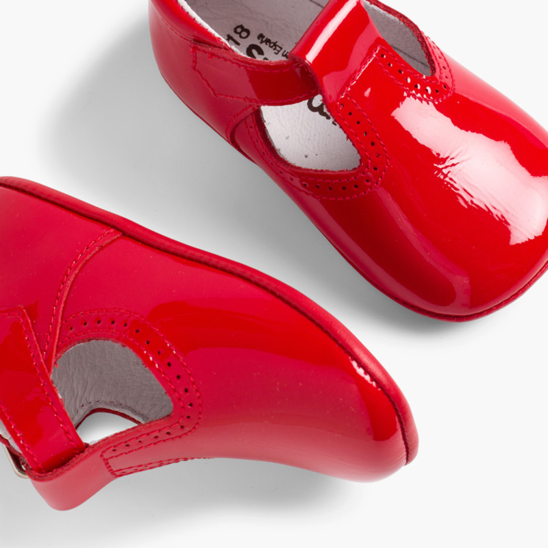Baby Patent T-Bar Shoes with buckle
