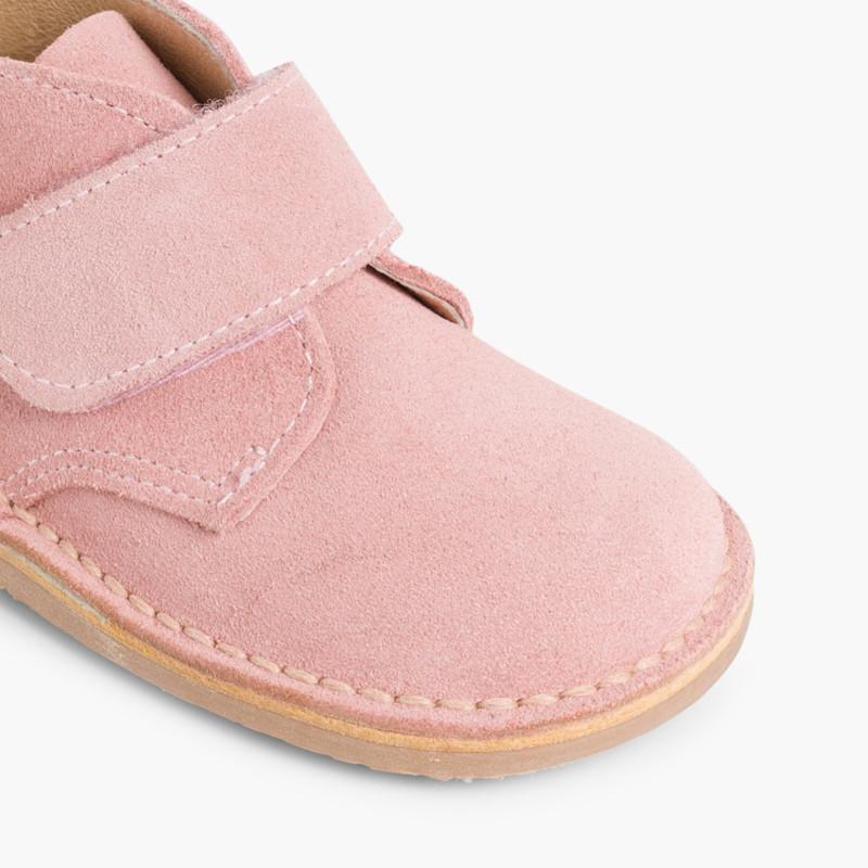 Kids Riptape Suede Desert Boots