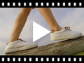 Video from Contrast Lace-Up Canvas Sneakers