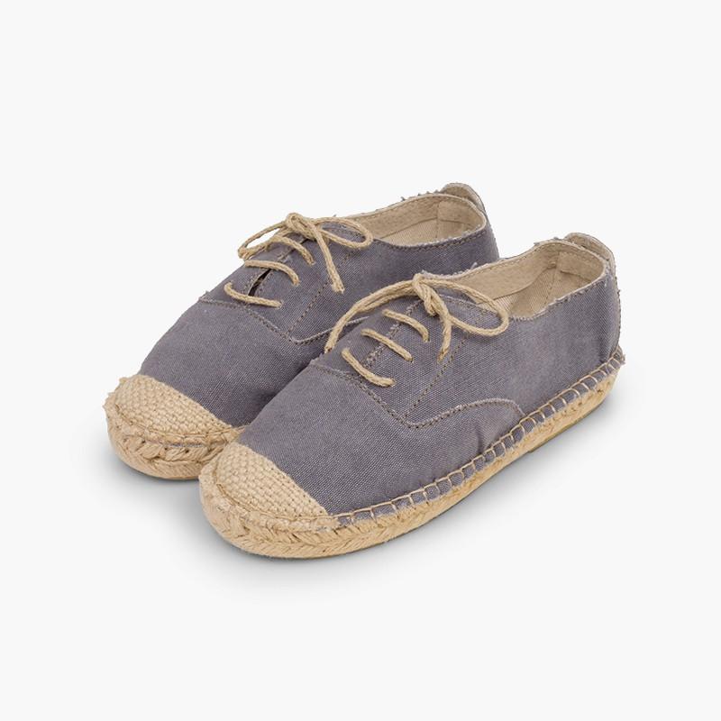 Blucher jute shoelaces and toecap