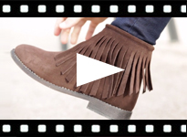 Video from Suede Fringe Ankle Boots for girls &women