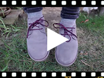 Video from Suede Blucher Shoes with Coloured Outsole and Laces