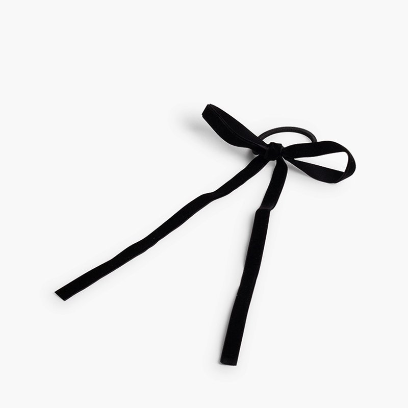 Hair tie with velvet bow