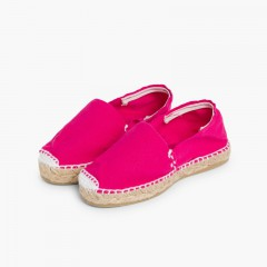 Kids Espadrilles with Elastic Band Fuchsia