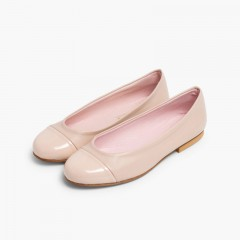 Ballet pumps and flats for girls and ladies in patent leather and Nappa Nude