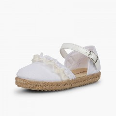 Ceremony Espadrilles with Lace White