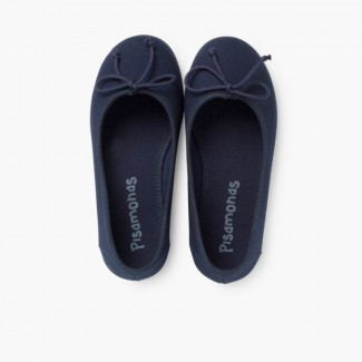 Canvas Ballerina Flats  Navy Blue