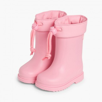 Little Children Wellies with Adjustable Top by Igor Pink