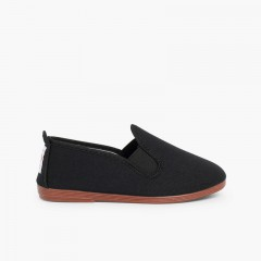 Canvas Slip On Plimsolls Black