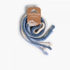 Cotton Hair Ties Celeste, Crudo y Azul Francia