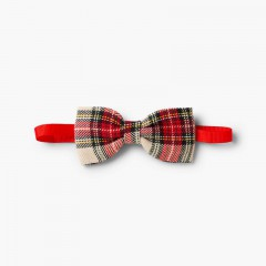 Boys' Scottish-patterned bow tie Off-White