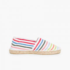 Striped Espadrilles for Kids and Adults  Multicolor