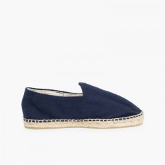 Herringbone Espadrilles Large Sizes (UK 2-10)  Navy Blue