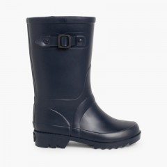 Buckle Strap Wellies for Kids Navy Blue