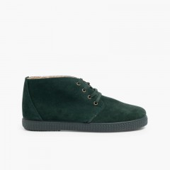 Lace-up Boots with Faux Fur Lining  Green