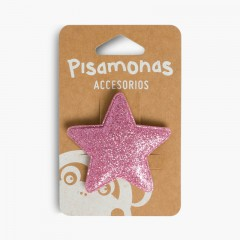 Girls' Hair-slide with Glittery Star Pastel Pink