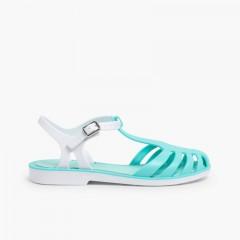 Laida Mini Girls' Rubber Jelly Sandals Aquamarine