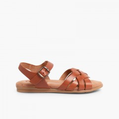 Sandals with Gel Insoles Leather